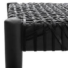 Load image into Gallery viewer, Bandelier Bench/Black/Black Leather