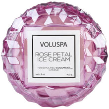 Load image into Gallery viewer, Voluspa Rose Petal Ice Cream Macaron Candle