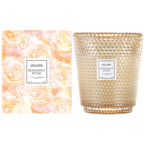 Voluspa Bergamot Rose Hearth Candle