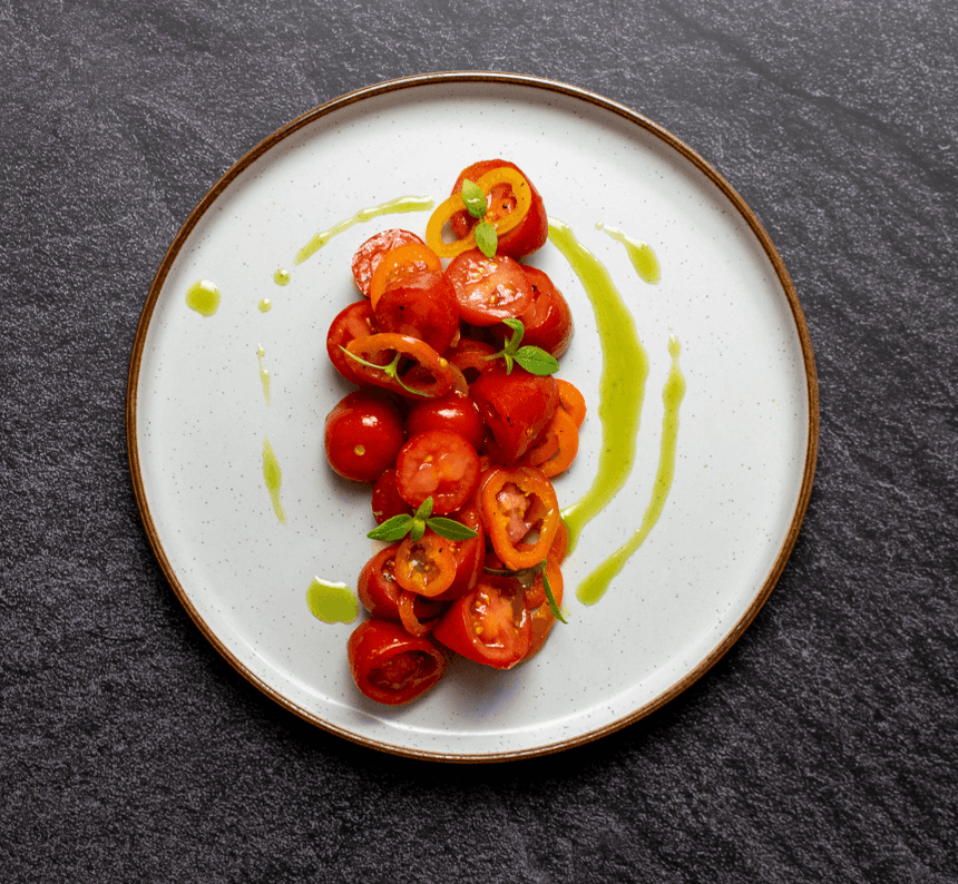 LEMON BASIL AND TOMATO SALAD