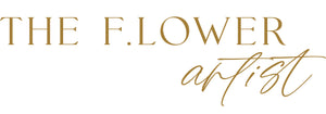 The F.lower Artist logo for floral art pieces