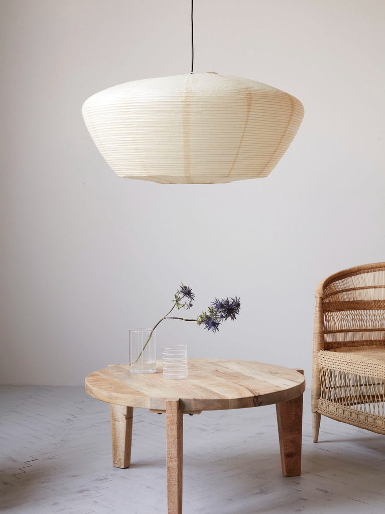 Oversized Rice Paper Saucer Shade Homeplace