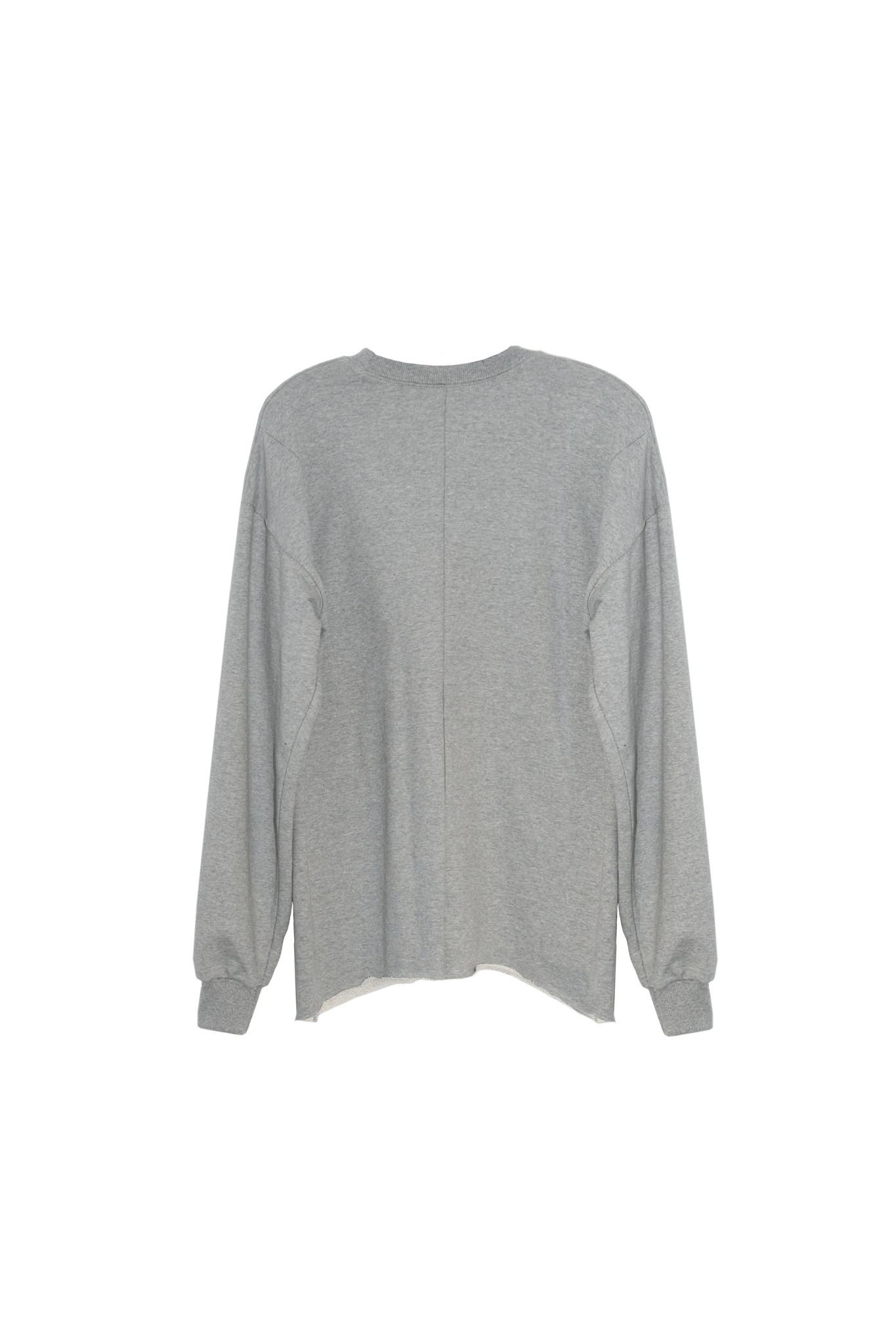 Crewneck DSRS raw cut gray