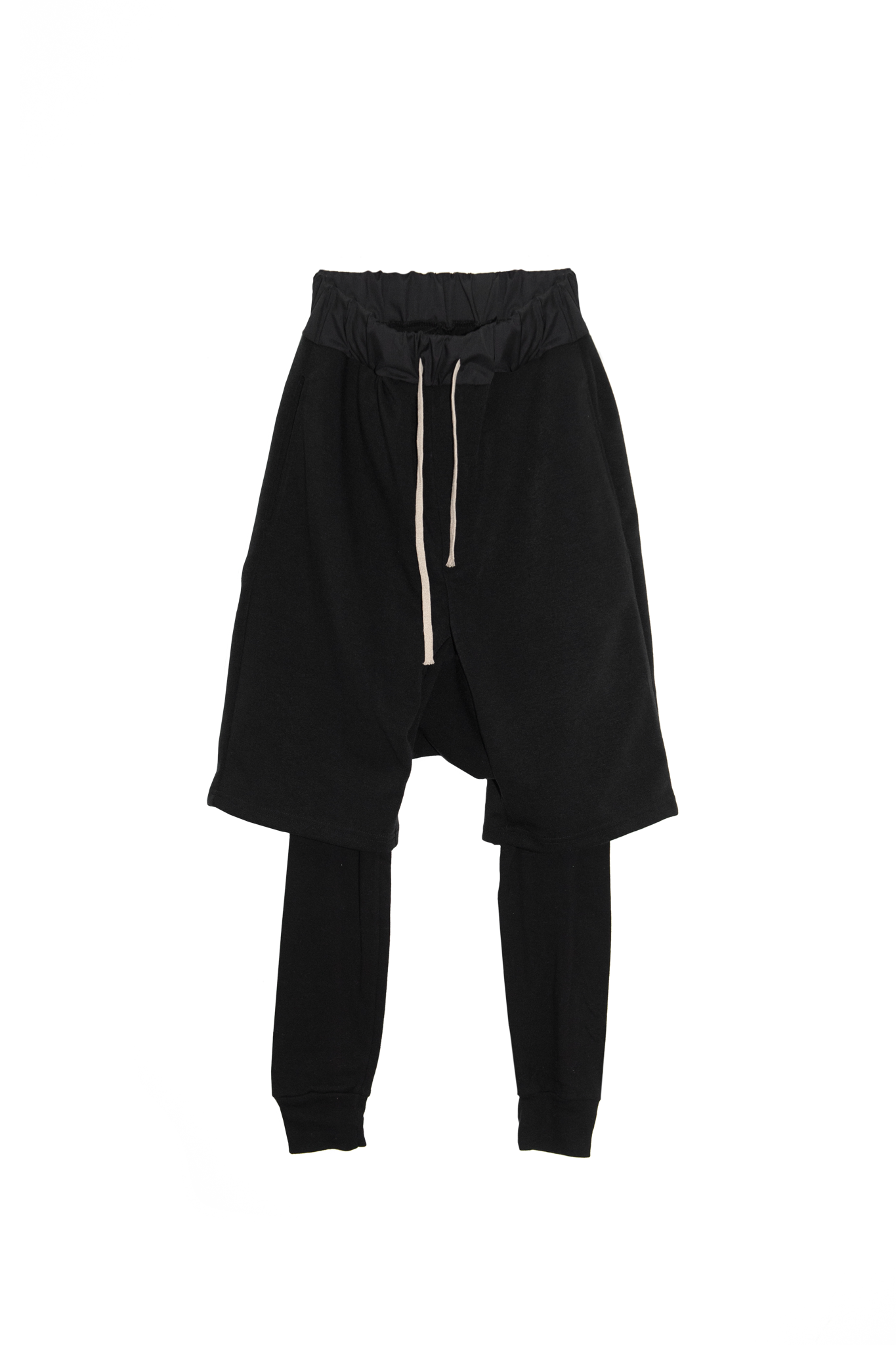 Pants drop layered black