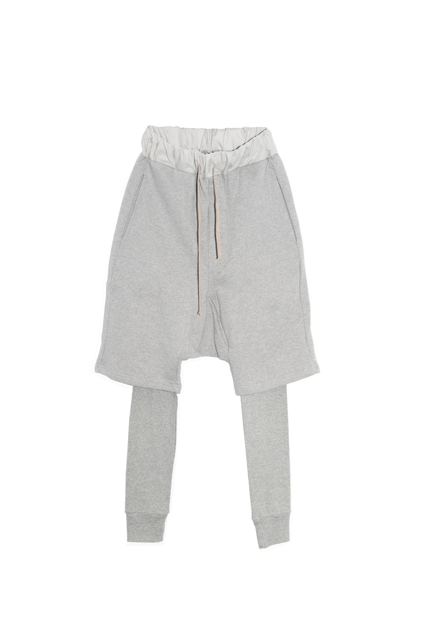 Pants drop layered gray