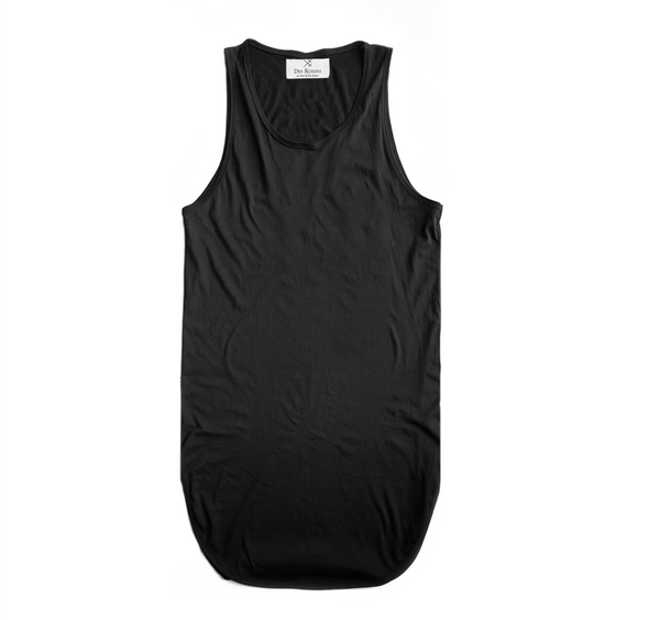 Black Essantial Long Tank