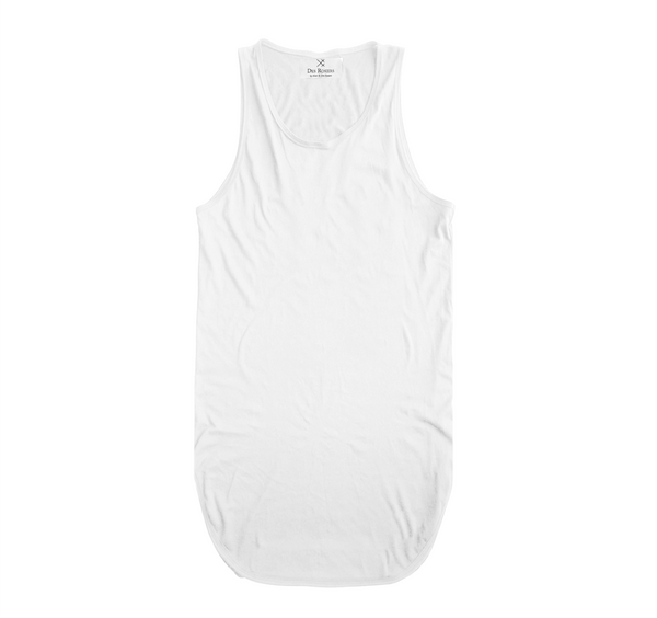 Back Order - White Essantial Long Tank
