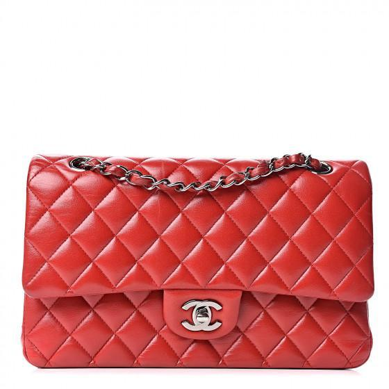 The Chanel Lambskin Quilted Medium Double Flap Bag – Chanel Handbags