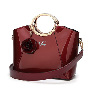LX BRIGHT LACQUERED PLATINUM LEATHER BAG 2020