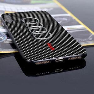 Aud Carbon Fiber Anti-Fall Protective Iphone Cover
