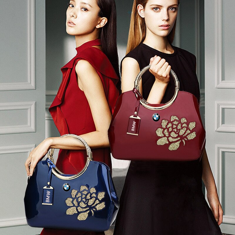 BMW LUXURY SHOULDER BAG WITH FLOWER.