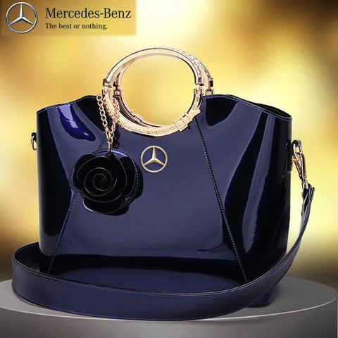 MCD Bright Lacquered Platinum Leather Bag 2020