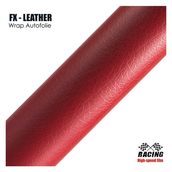 atFoliX Möbelfolie FX-Leather 3D, Leather 3D Red
