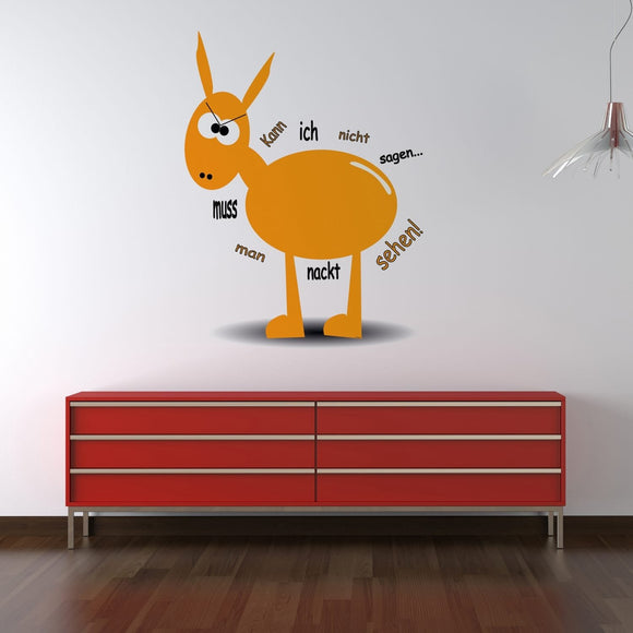 Wandtattoo Orange Donkey