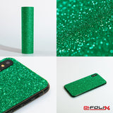 atFoliX Skin kompatibel mit Apple iPhone 5C - FX-Glitter-Green-Mile Cover Aufkleber