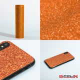 atFoliX Skin kompatibel mit Huawei Honor 5X - FX-Glitter-Orange-Juice Cover Aufkleber