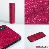 atFoliX Skin kompatibel mit OBS Cube - FX-Glitter-Ruby-Red Cover Aufkleber