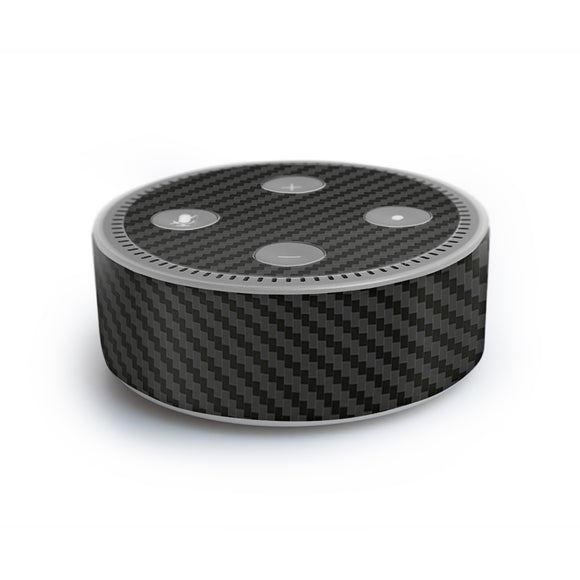 atFoliX FX-Carbon-Black Skin für Amazon Echo Dot (2. Generation)