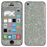 atFoliX FX-Glitter-Sterling-Silver Skin für Apple iPhone 5C