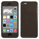 atFoliX FX-Leather-Brown Skin für Apple iPhone 5C