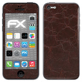 atFoliX FX-Rugged-Leather-Brown Skin für Apple iPhone 5C