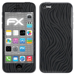 atFoliX FX-Wave-Black Skin für Apple iPhone 5C