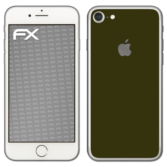 atFoliX FX-Soft-Olive Skin für Apple iPhone 7