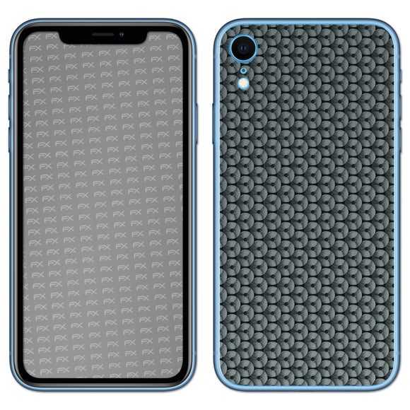 atFoliX FX-Honeycomb-Grey Skin für Apple iPhone XR