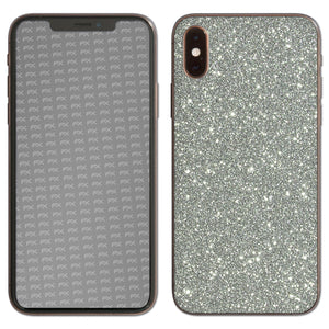 atFoliX FX-Glitter-Sterling-Silver Skin für Apple iPhone XS (Back cover)