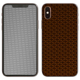 atFoliX FX-Honeycomb-Brown Skin für Apple iPhone XS (Back cover)