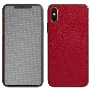 atFoliX FX-Leather-Red Skin für Apple iPhone XS (Back cover)