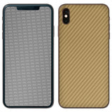 atFoliX FX-Carbon-Gold Skin für Apple iPhone XS Max (Back cover)