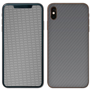atFoliX FX-Carbon-Silverdark Skin für Apple iPhone XS Max (Back cover)
