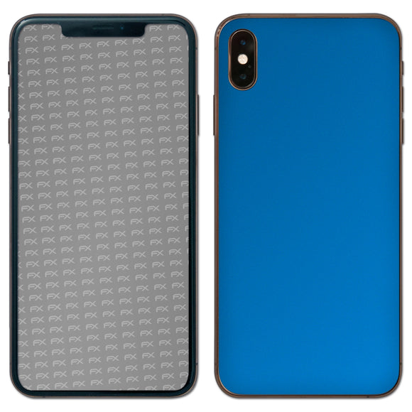 atFoliX FX-Chrome-Soft-Blue Skin für Apple iPhone XS Max (Back cover)