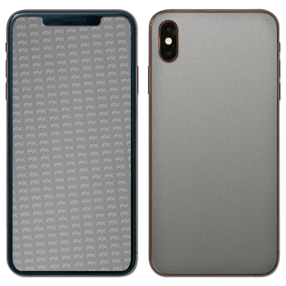 atFoliX FX-Soft-Silver-Grey Skin für Apple iPhone XS Max (Back cover)