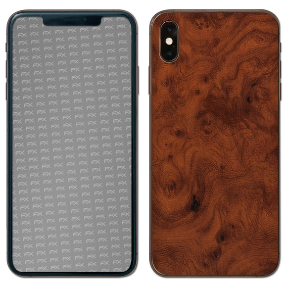 atFoliX FX-Wood-Root Skin für Apple iPhone XS Max (Back cover)