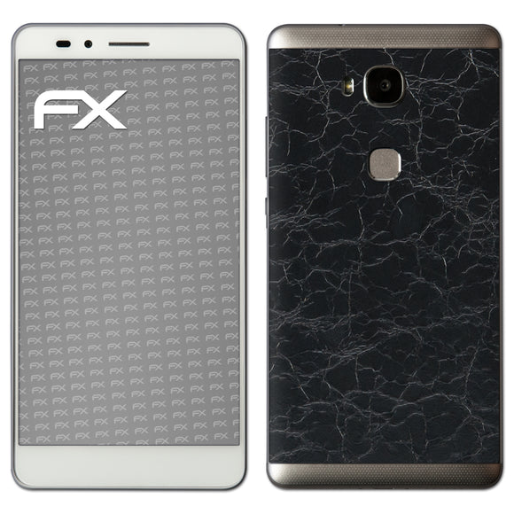 atFoliX FX-Rugged-Leather-Black Skin für Huawei Honor 5X