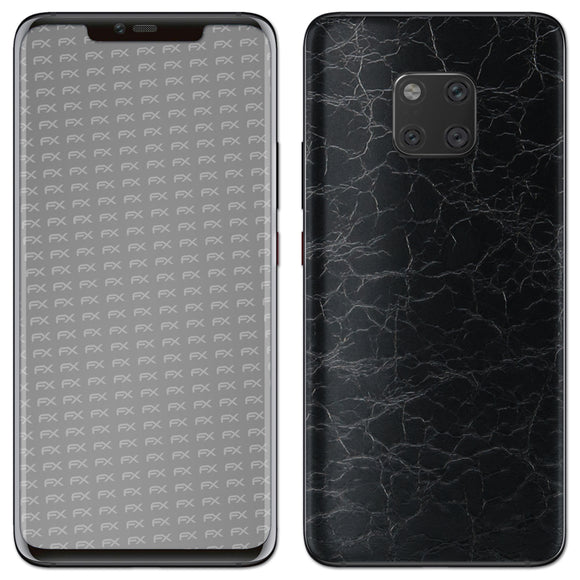 atFoliX FX-Rugged-Leather-Black Skin für Huawei Mate 20 Pro