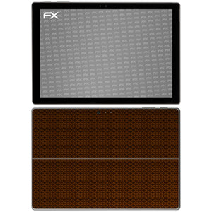 atFoliX FX-Honeycomb-Brown Skin für Microsoft Surface Pro 4