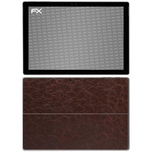 atFoliX FX-Rugged-Leather-Brown Skin für Microsoft Surface Pro 4