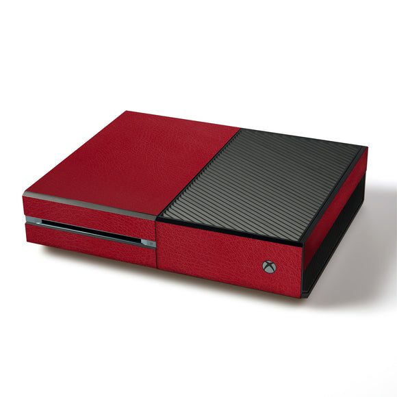 atFoliX FX-Leather-Red Skin für Microsoft Xbox One