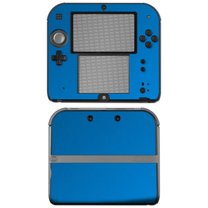 atFoliX FX-Chrome-Soft-Blue Skin für Nintendo 2DS