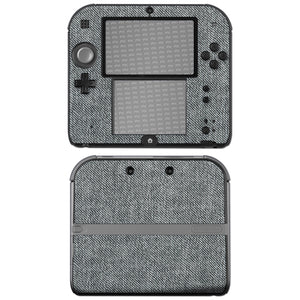 atFoliX FX-Denim-Grey Skin für Nintendo 2DS