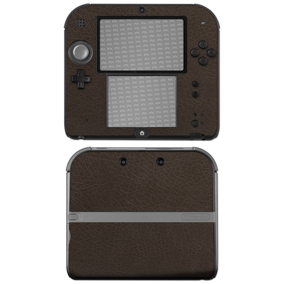 atFoliX FX-Leather-Brown Skin für Nintendo 2DS