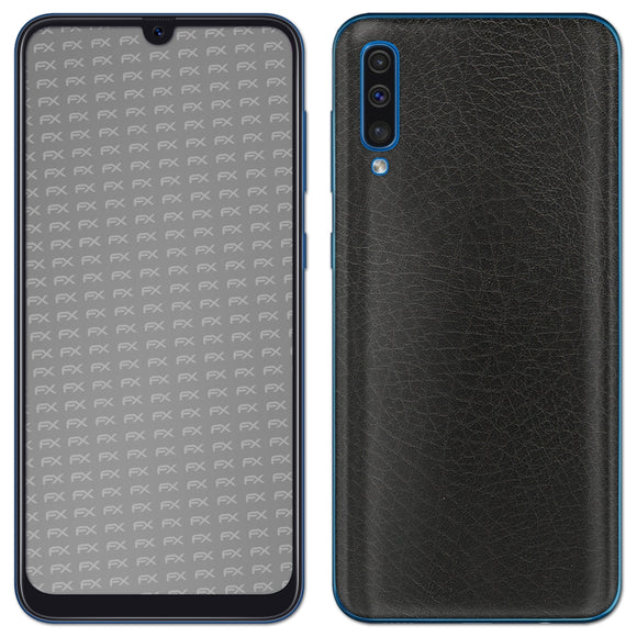 atFoliX FX-Leather-Black Skin für Samsung Galaxy A50 (2019)