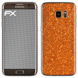 atFoliX FX-Glitter-Orange-Juice Skin für Samsung Galaxy S7 Edge