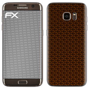 atFoliX FX-Honeycomb-Brown Skin für Samsung Galaxy S7 Edge