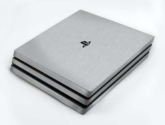 atFoliX FX-Brushed-Alu Skin für Sony PlayStation 4 Pro (PS4 Pro)