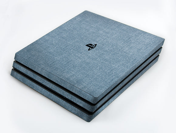 atFoliX FX-Denim-Blue Skin für Sony PlayStation 4 Pro (PS4 Pro)