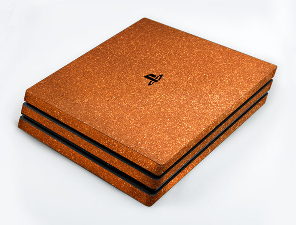 atFoliX FX-Glitter-Orange-Juice Skin für Sony PlayStation 4 Pro (PS4 Pro)